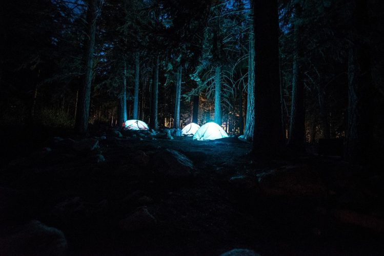 Tents Campsite Night Camping