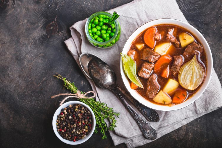 Meat stew with beef, potato